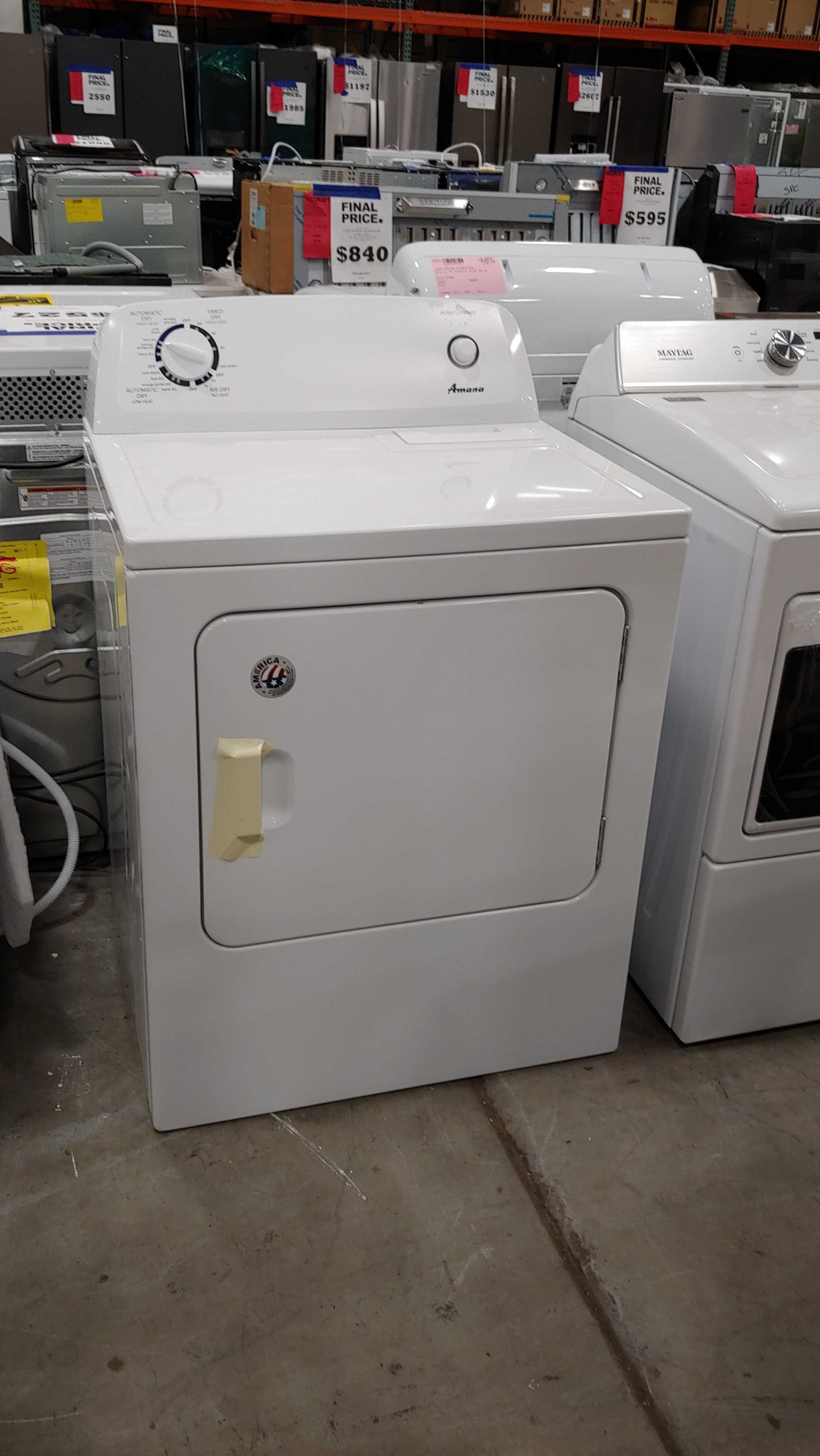 hight resolution of amana 6 5 cu ft electric dryer white 50439