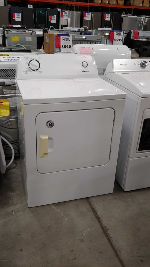small resolution of amana 6 5 cu ft electric dryer white 50439