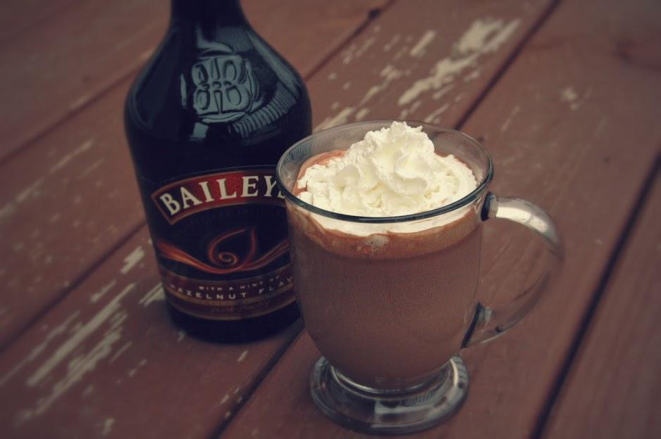 Tipsy Hazelnut Hot Chocolate