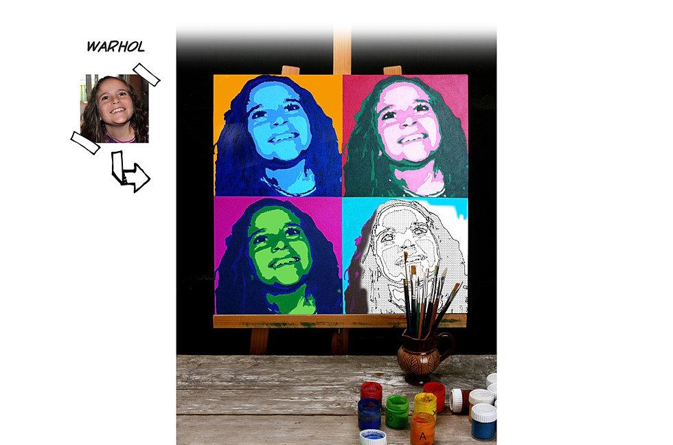 Pop Art vom Foto auf Leinwand malen  Fotogeschenk malen