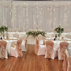 Wedding Chair Covers Doncaster All Weather Wicker Outdoor Chairs Cover Hire Barnsley Sheffield South Yorkshire Hood Ruffle At Montgomery Hall