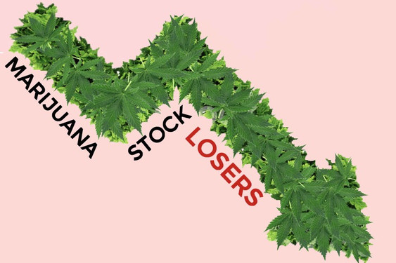 5 of Today's Biggest Marijuana Stock Losers - Wednesday, July 11th