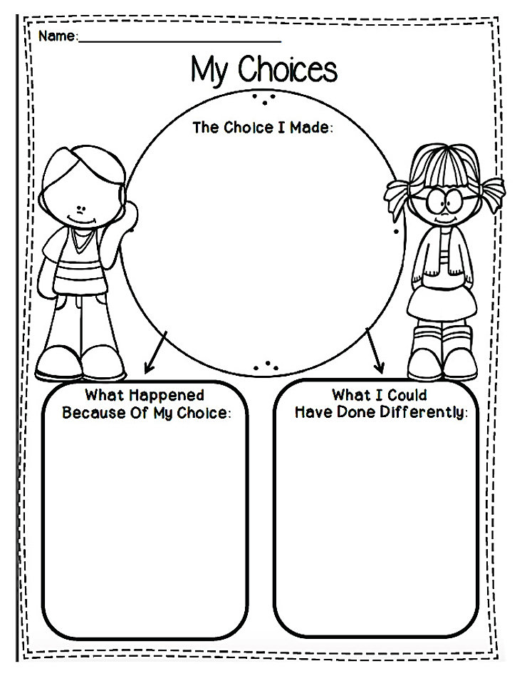 Behavior Reflection Worksheet Worksheets For School
