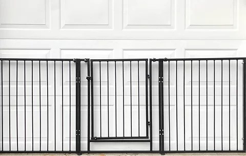 8 Foot Dog Garage Safety Gate Black Buddy Gate