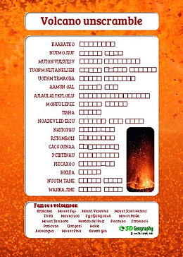 Free volcano Worksheets for teaching and learning all