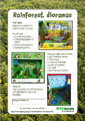 amazon rainforest layers diagram 06 gsxr 600 wiring free worksheets for teaching and learning about rainforests make a diorama