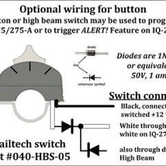 Trail Tech Light Switch Wiring Diagram Samsung Home Theatre Skenelights Installation Iq 275 Note That The Button On This As Well High Beam May Be Used To Program And Activate Alert Feature A
