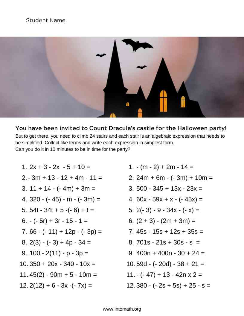 hight resolution of 5 Halloween Math Activities and Worksheets - IntoMath
