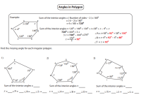 Interior Angles Of Polygons Worksheet - Bluegreenish