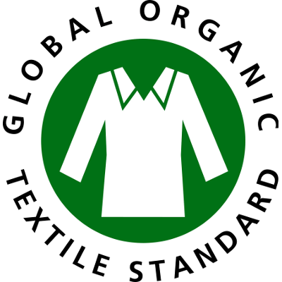 Het logo van het GOTS keurmerk