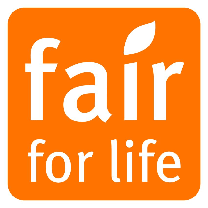 Het logo van het fair for life keurmerk