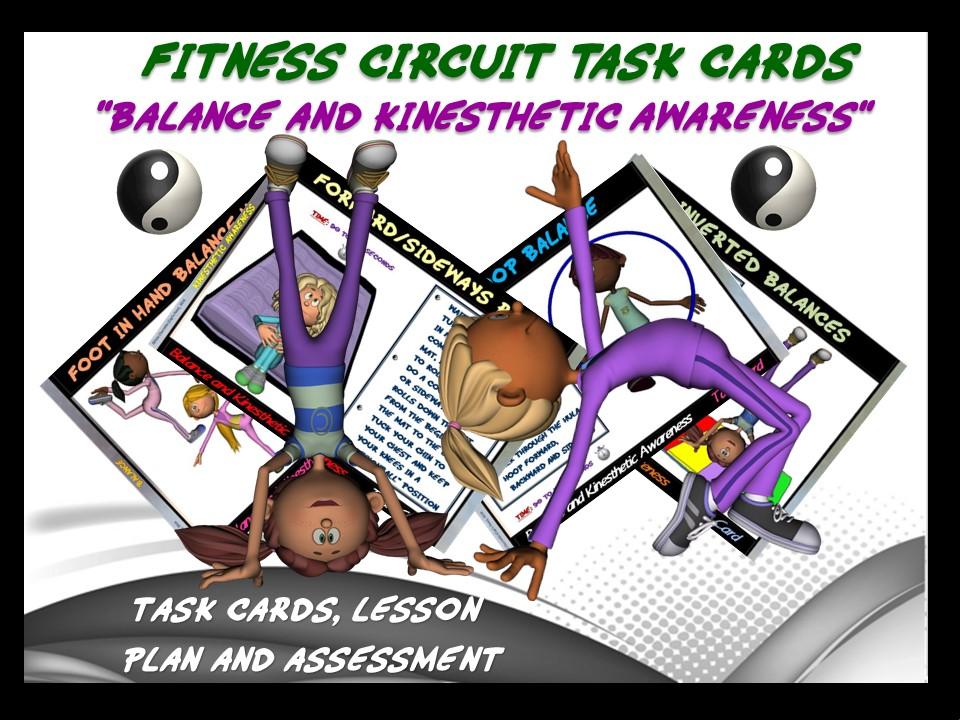 Fitness Circuit Task Cards Mega Bundle Health And Skill