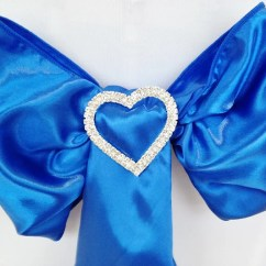 Chair Covers Bristol And Bath Vinyl Rocking Chairs Sash Decorations Cover Hire Wiltshire So Royal Blue Satin With Diamante Brooche