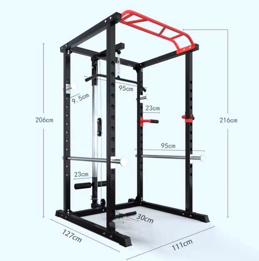 power rack with pulley system