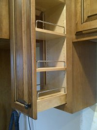 Spice Rack Pull Out Upper Cabinet. Upper Pull Out Spice ...