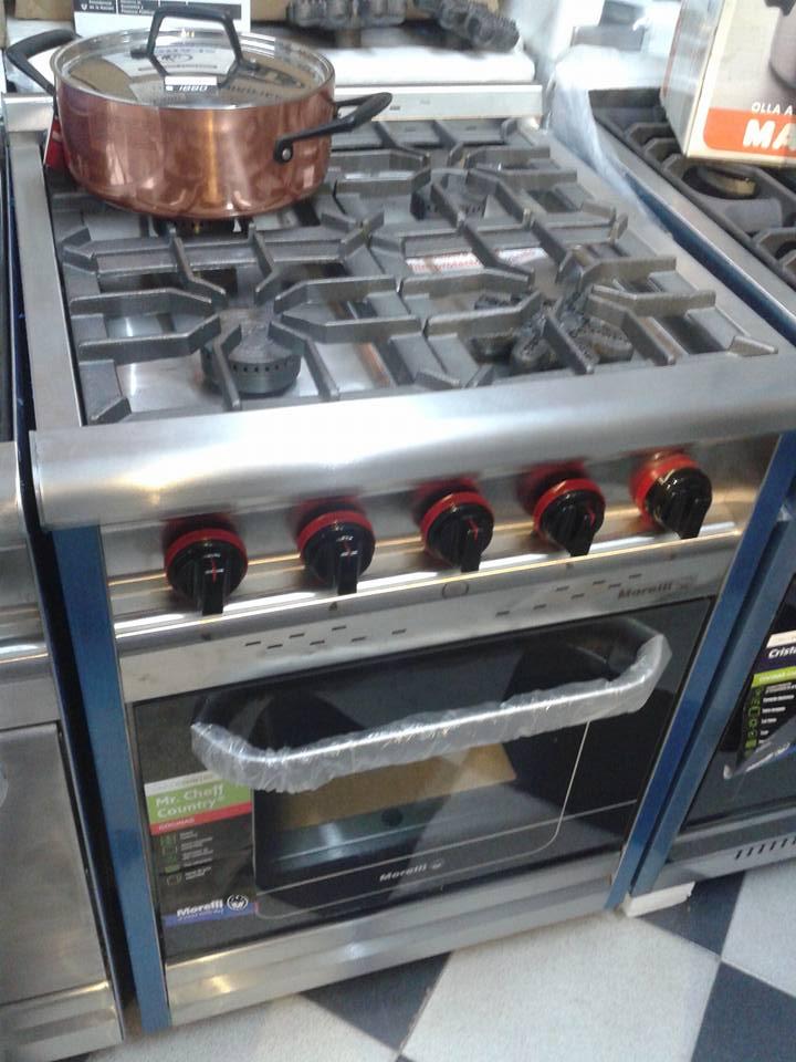 Morelli cocina industrial 60 country puerta inoxidable mga