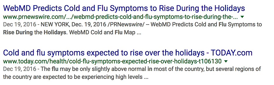 Was WebMD Wrong? Flu Drops During Holidays