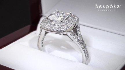 Tiffany Style Halo Diamond Ring