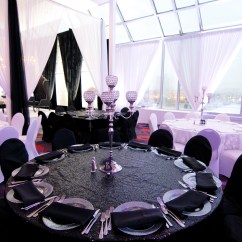 Wedding Chair Covers Montreal Steel Glides Rental Glam Location Decor Black Spandex