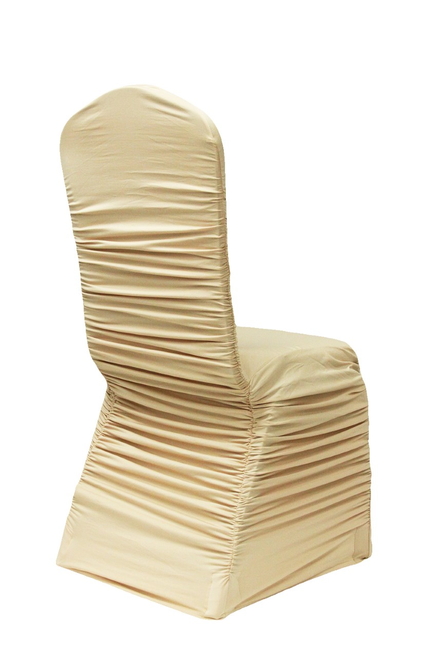 wedding chair covers montreal swivel stool rental glam location decor gold ruched cover