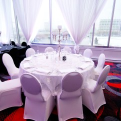 Wedding Chair Covers Montreal Windsor Back Chairs For Sale Rental Glam Location Decor White Spandex