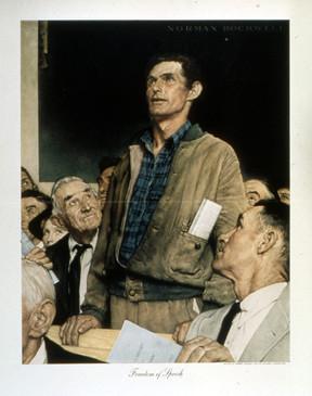 Freedom of Speech, pintura de Norman Rockwell