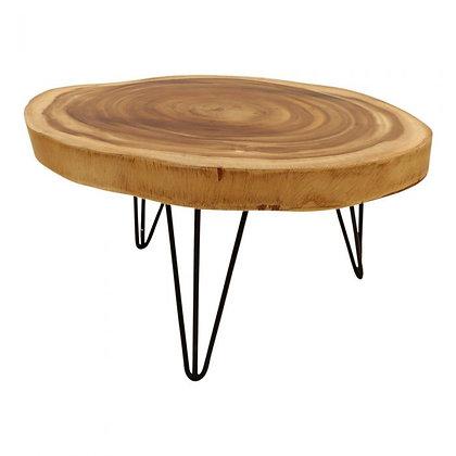 table basse en bois effet rondin kentyhome
