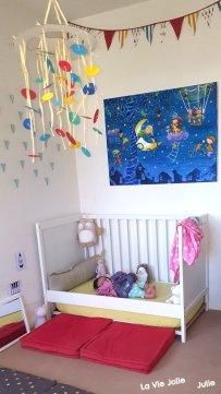 Litchi le lit au sol et nous baby 39 mat la veille de la for Modele chambre montessori