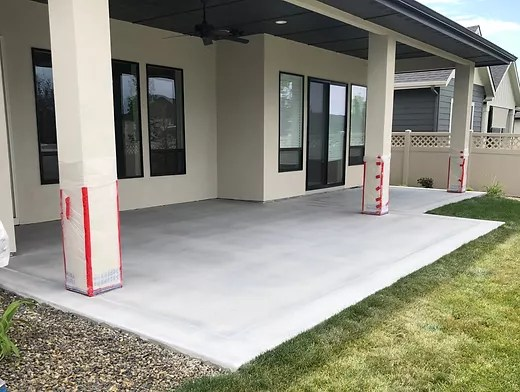 polished concrete patio boise idaho