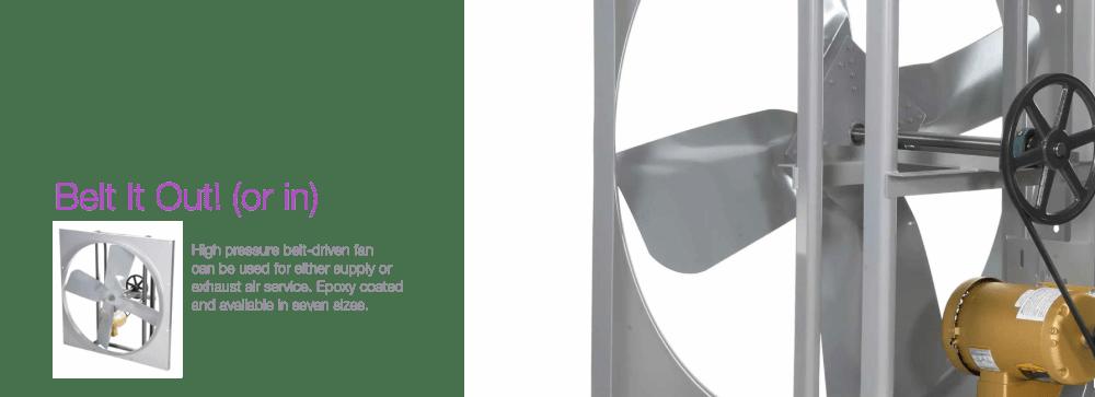 medium resolution of high pressure belt drive fans