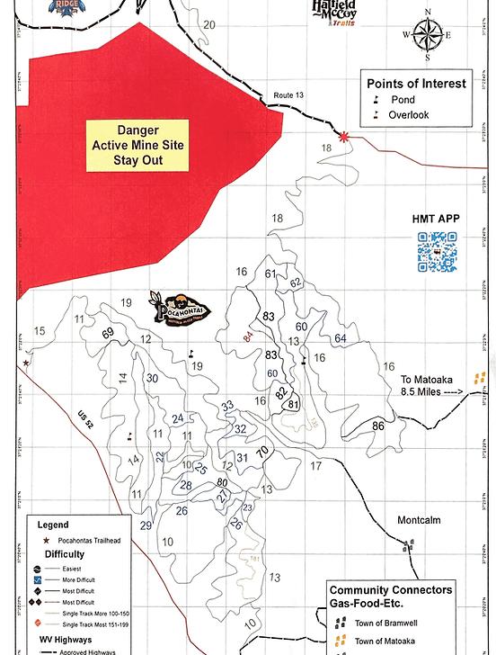 Pocahontas State Park Trail Map : pocahontas, state, trail, Trail, Wvatvrentals