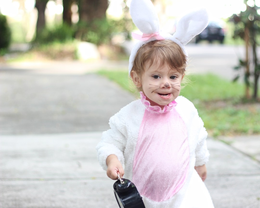 Little girl white rabbit costume | Family Alice In Wonderland Costume