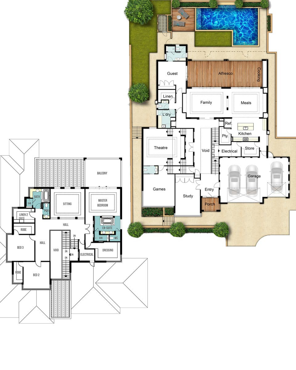 hight resolution of two storey house floor plans the woodland by boyd design perth