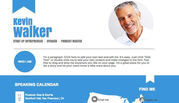 Personal Website Templates Portfolio & CV Wix