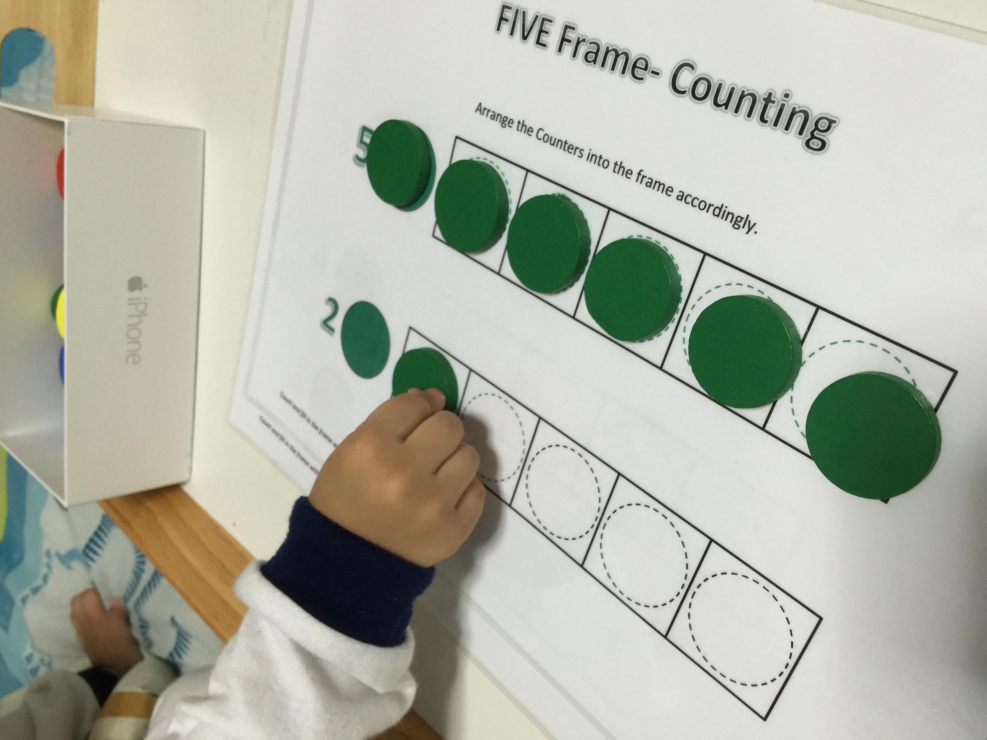 Montessori Colored Counter Set 2 Worksheets