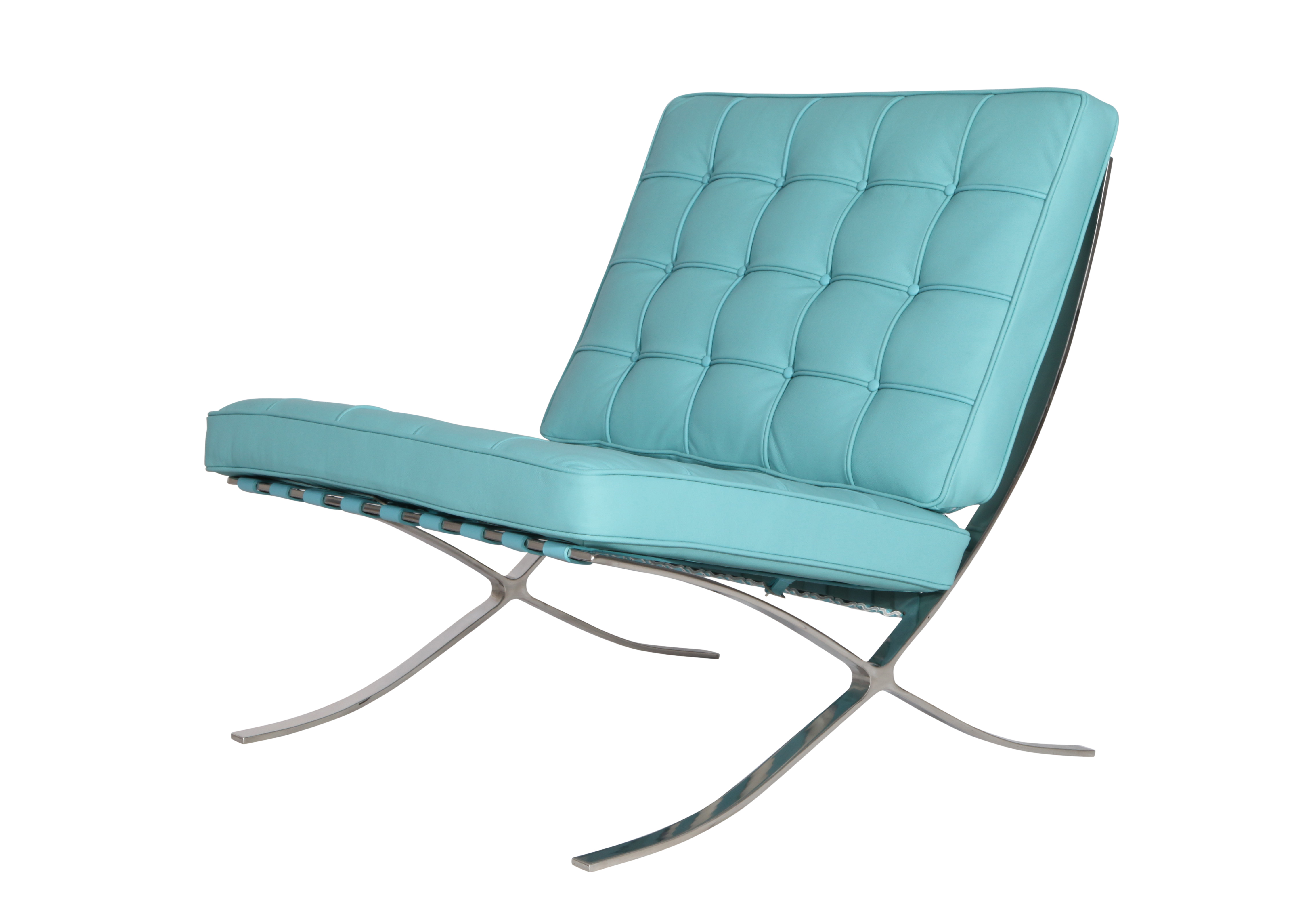Barcelona Lounge Chair Barcelona Lounge Chair Baby Blue Design District Mid