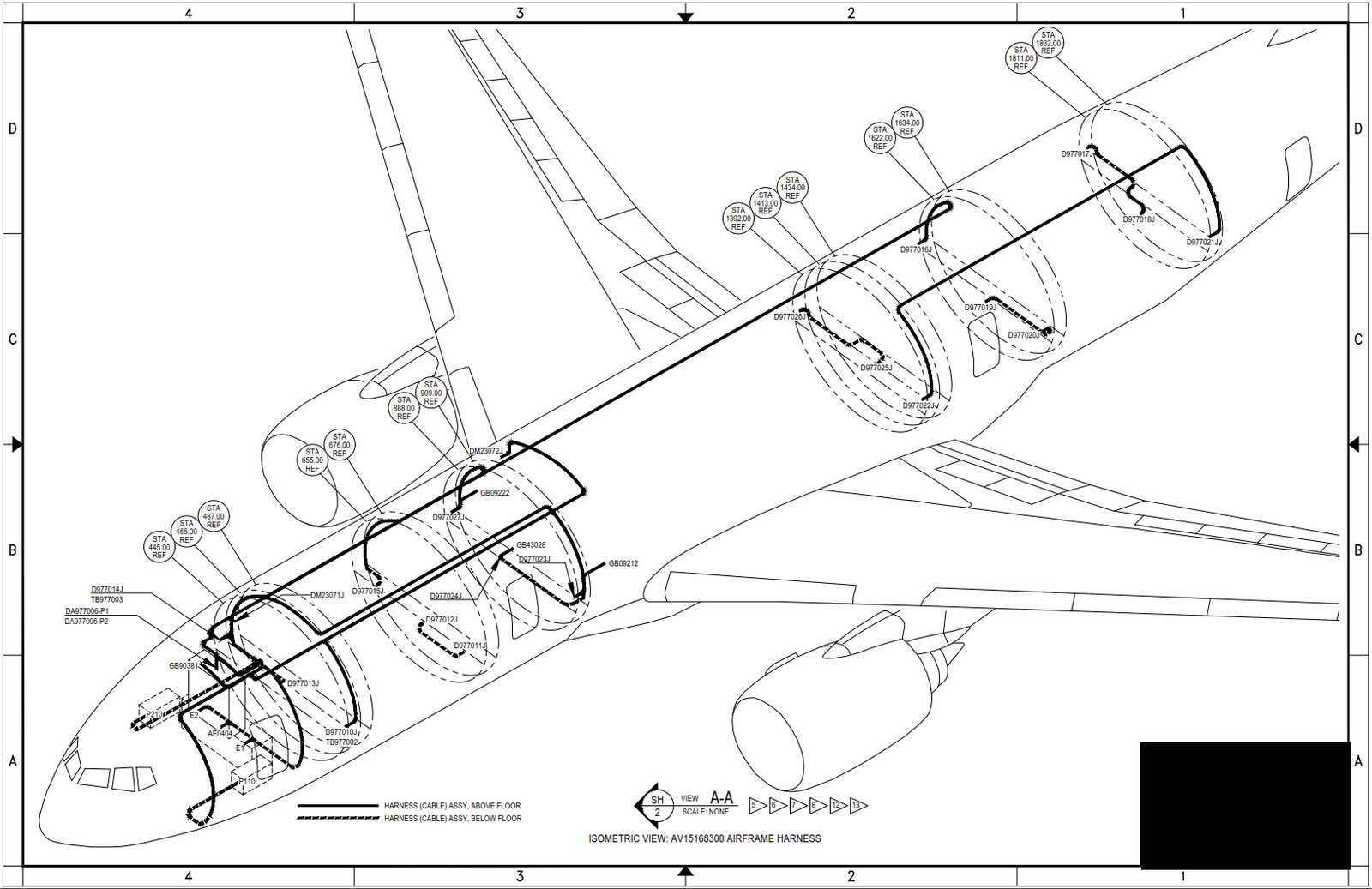 hight resolution of boeing 777 wiring routing iso view