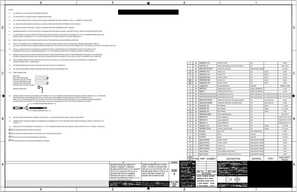 medium resolution of boeing 777 wiring diagram general notes