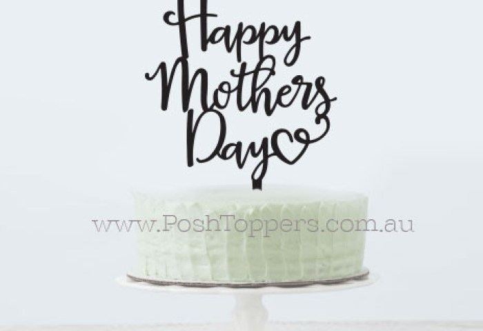 Mothers Day Cake Toppers By Posh