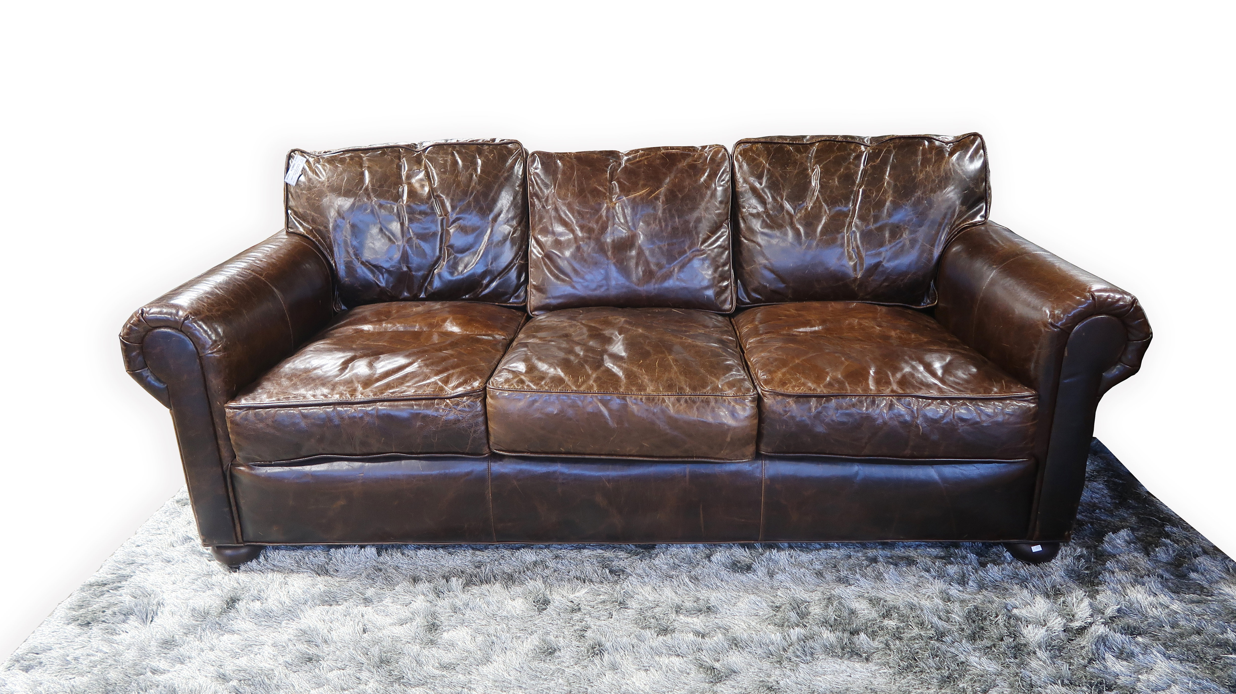 Restoration Hardware Distressed Leather Sofa