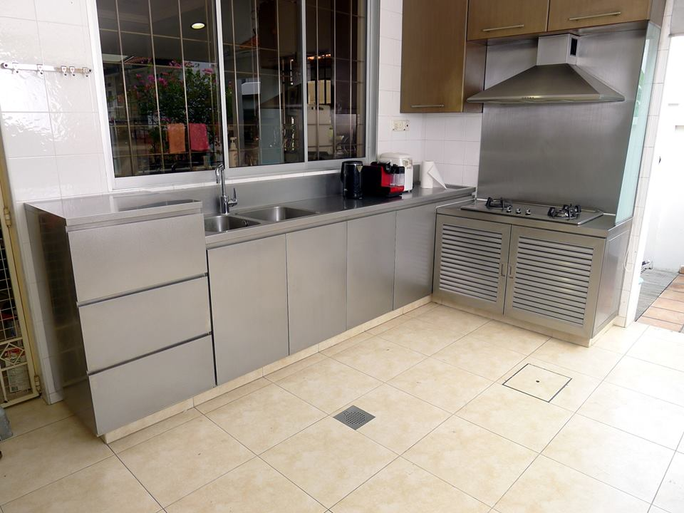 stainless steel kitchen hood cleaning cabinets custom fabrications singapore yew lee metal works