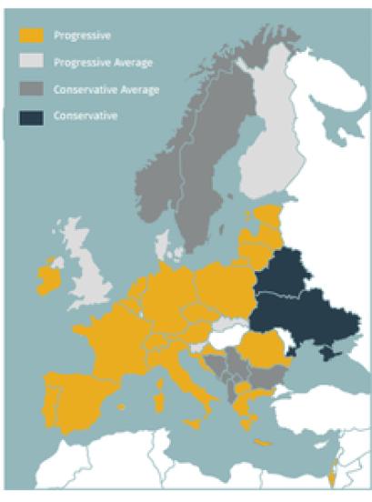 Posição de países da Europa em relação à cannabis medicinal