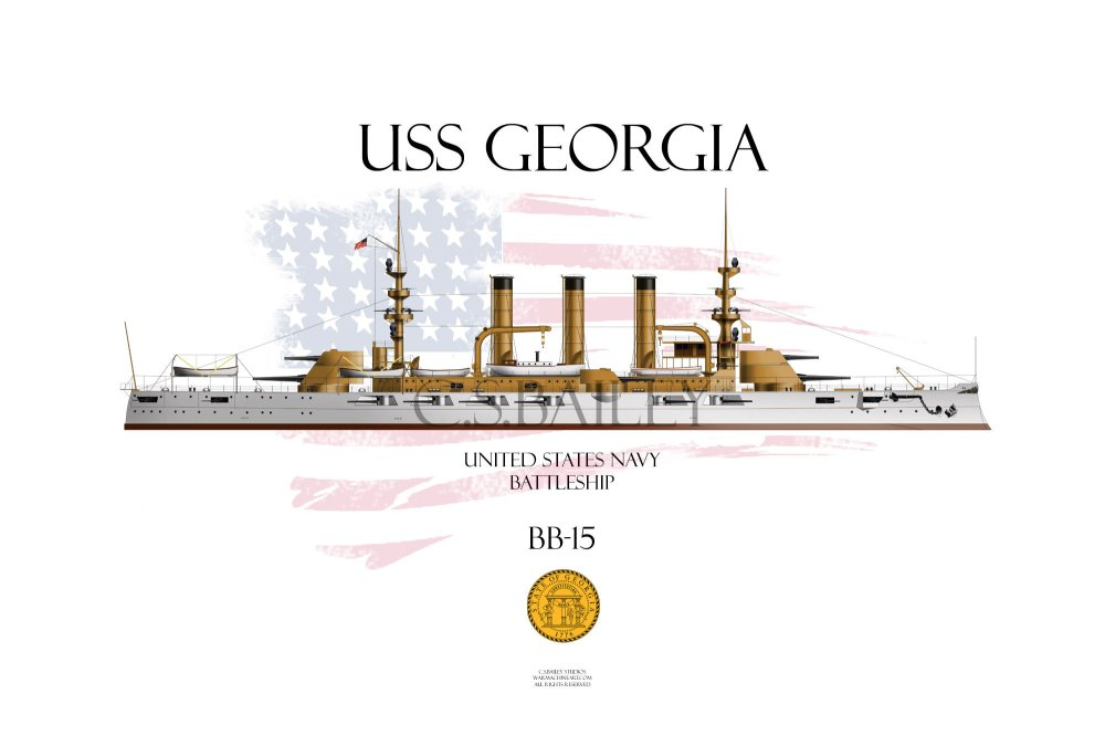 medium resolution of uss georgia bb 15 was a united states navy virginia class battleship the third of five ships of the class she was built by the bath iron works in maine