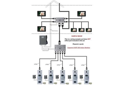 Video Entry System Residential Condominium 18 Unit Kit