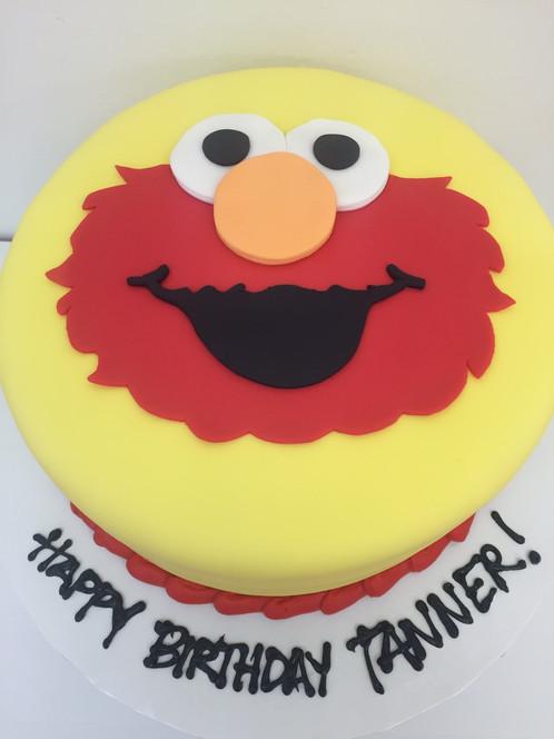 Elmo Face Cake