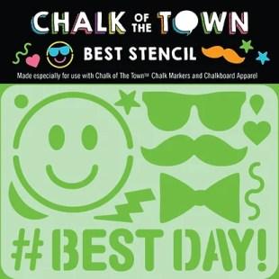 #Best Day Stencil