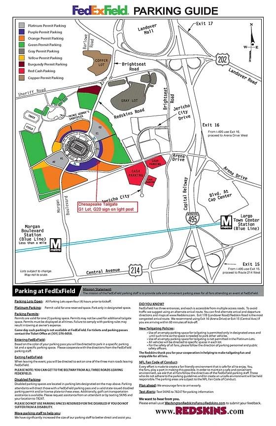 Redskin Stadium Map : redskin, stadium, Redskins, Tailgate