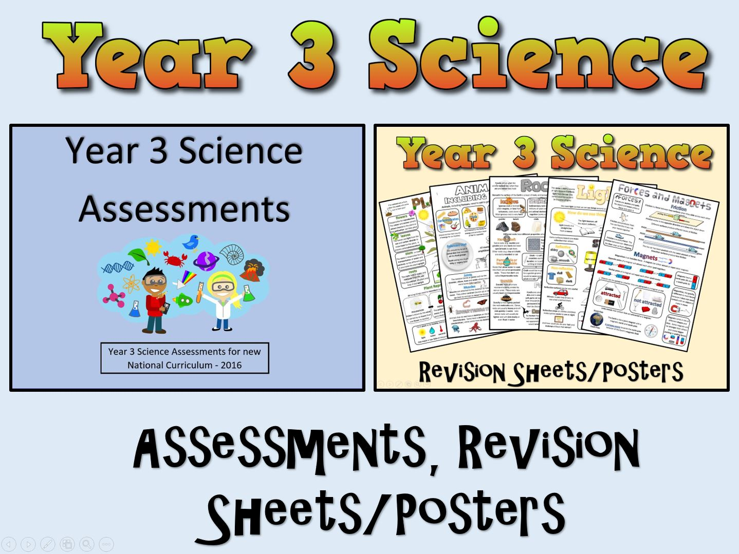 Year 3 Science Assessments Posters