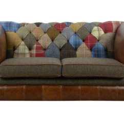 Leather Vs Fabric Sofa India 2 Cuddler Patchwork Chesterfield Seater