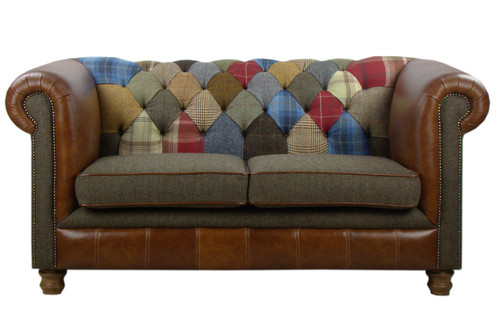 navy leather chesterfield sofa mega mammoth bean bag review patchwork uk 6 month old ...